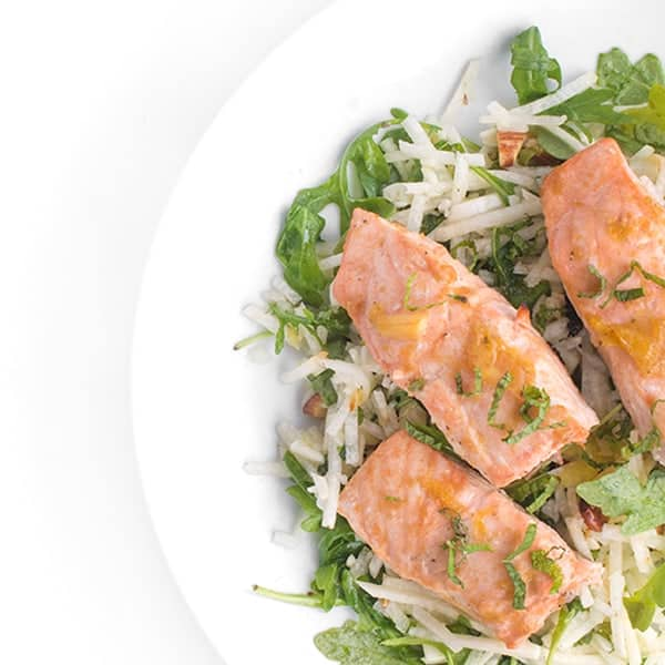 Brown Sugar Salmon with Jicama Slaw - an easy dinner recipe