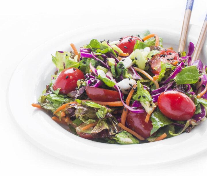 Ginger Salad Dressing closeup
