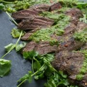 Grilled Flank Steak with Chimichurri Sauce - a flavorful dinner recipe