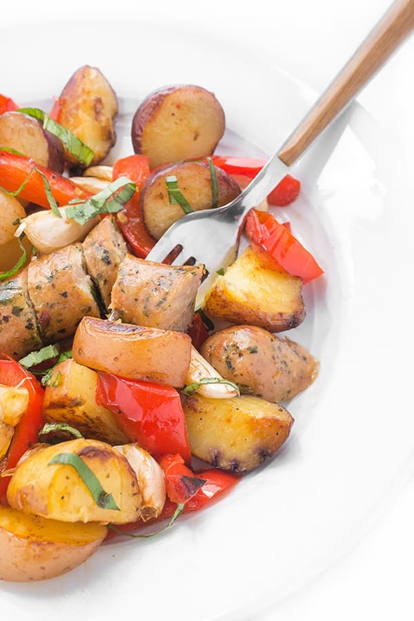 Grilled Italian Sausage, Peppers and Potatoes - an easy grilling recipe