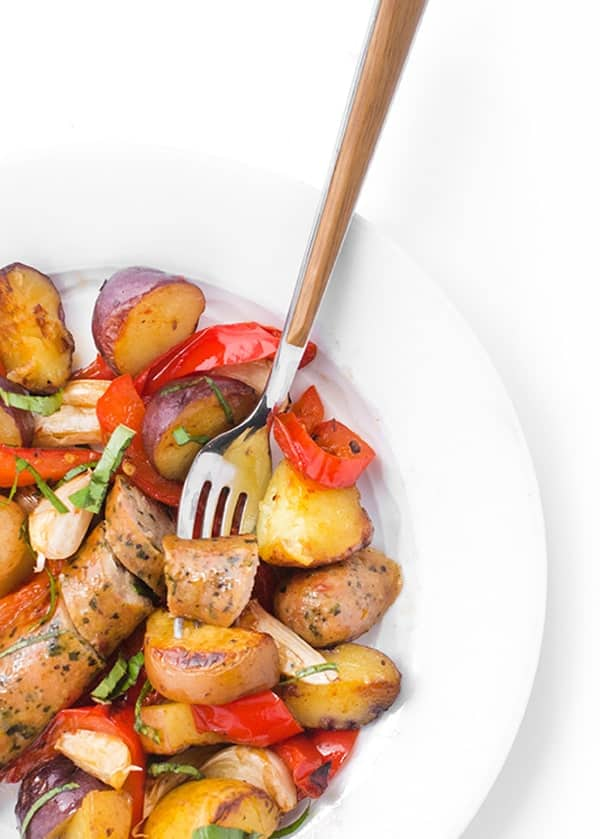 Grilled Sausage, Peppers and Potatoes - a quick and easy dinner recipe