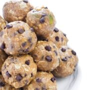 No Bake Peanut Butter Energy Bites- a healthy snack recipe