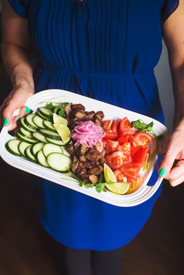 Shaking Beef - a Vietnamese beef salad recipe