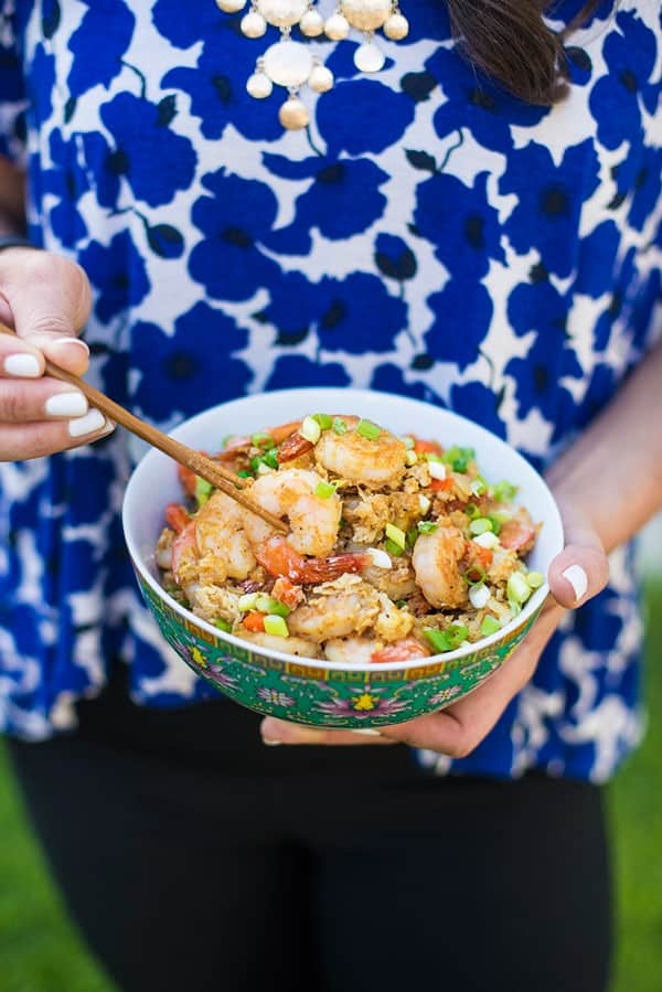 Cauliflower Shrimp Fried Rice - a fast and easy dinner recipe