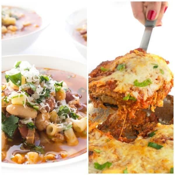 Eggplant and Pasta Fagiole