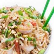 Shrimp Pad Thai - a fast Asian stir fry recipe