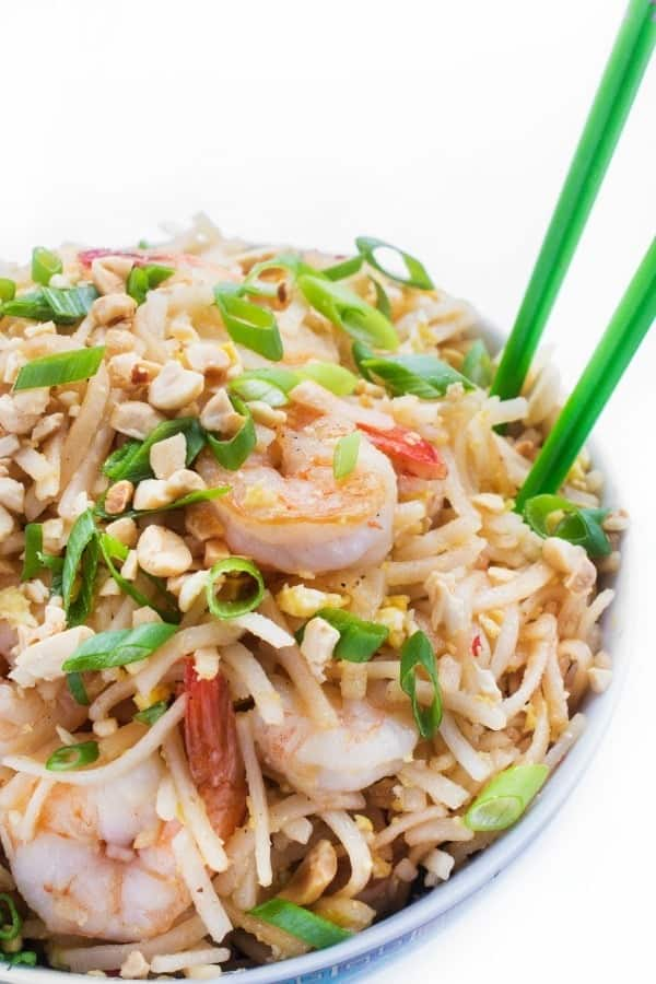 Shrimp Pad Thai - a fast Asian stir fry recipe