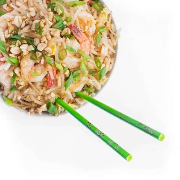 Shrimp Pad Thai - a quick healthy dinner recipe