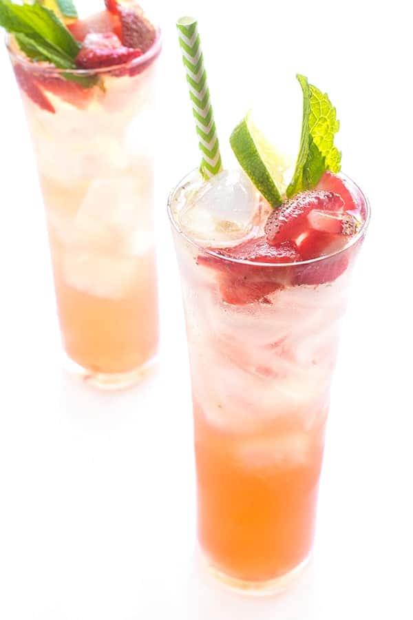 Strawberry Mojito - a fruity cocktail recipe