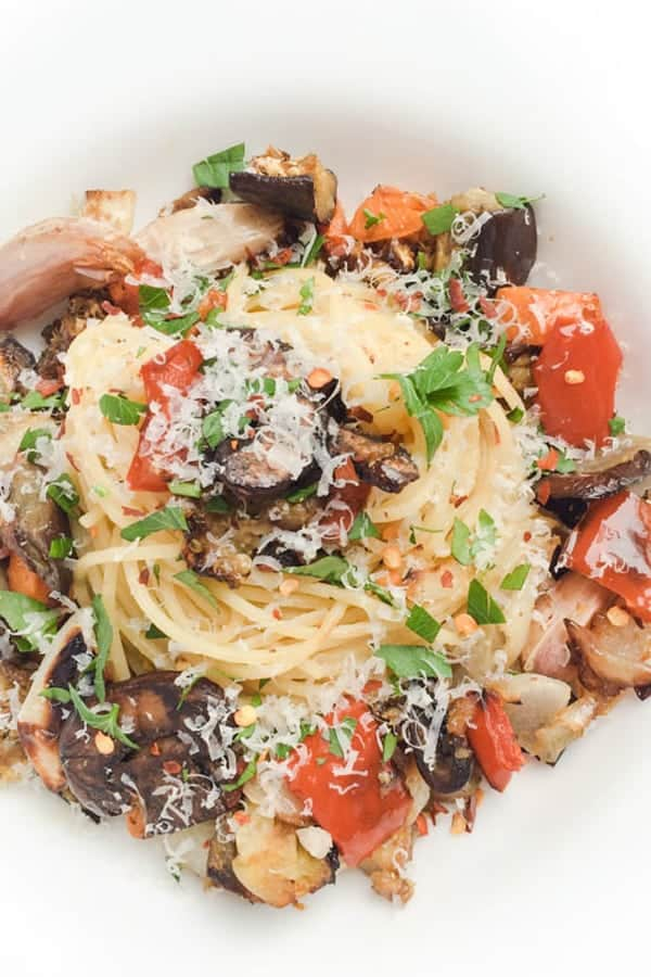 garlic-roasted-vegetable-pasta
