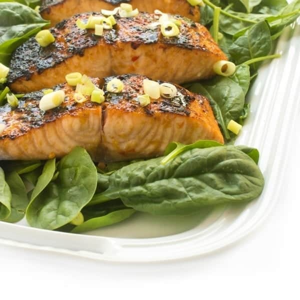 Asian Broiled Salmon with Soy Glaze - an easy dinner recipe