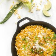 Skillet Mexican Street Corn -an easy side dish recipe