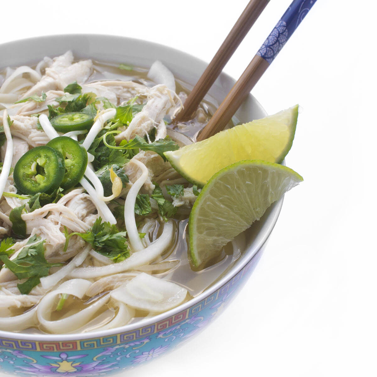 Slow Cooker Chicken Pho in a bowl
