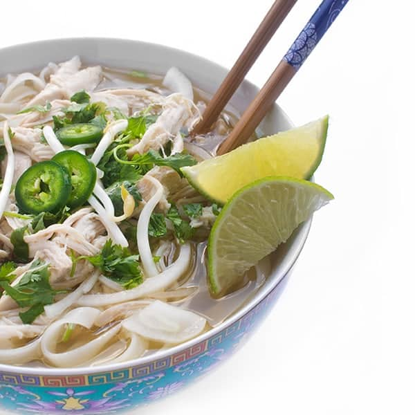 Slow Cooker Chicken Pho - an easy Asian soup recipe