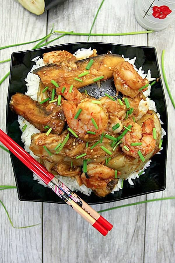 chinese-steamed-eggplant-with-shrimp-stir-fry