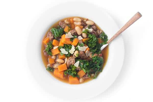 sausage-bean-and-kale-soup-a-fast-soup-recipe