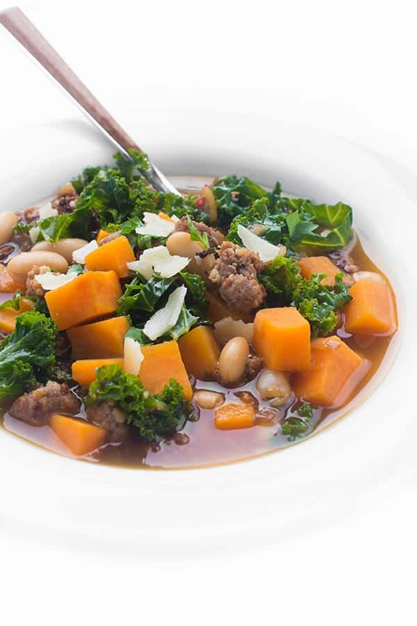 Sausage, Bean and Sweet Potato Soup