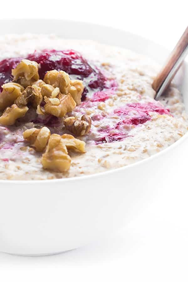 Cream of Steel Cut Oats with Cranberry