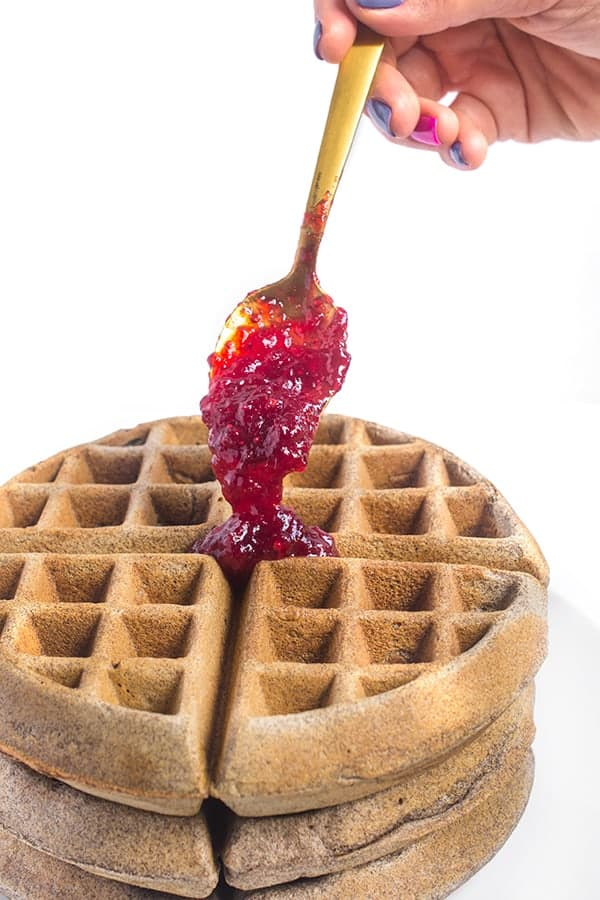buckwheat-belgian-waffles-with-cranberry-maple-sauce-a-healthy-breakfast-recipe