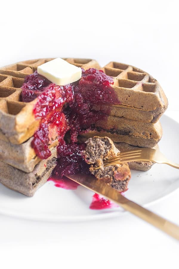 buckwheat-belgian-waffles-with-cranberry-sauce-a-breakfast-recipe