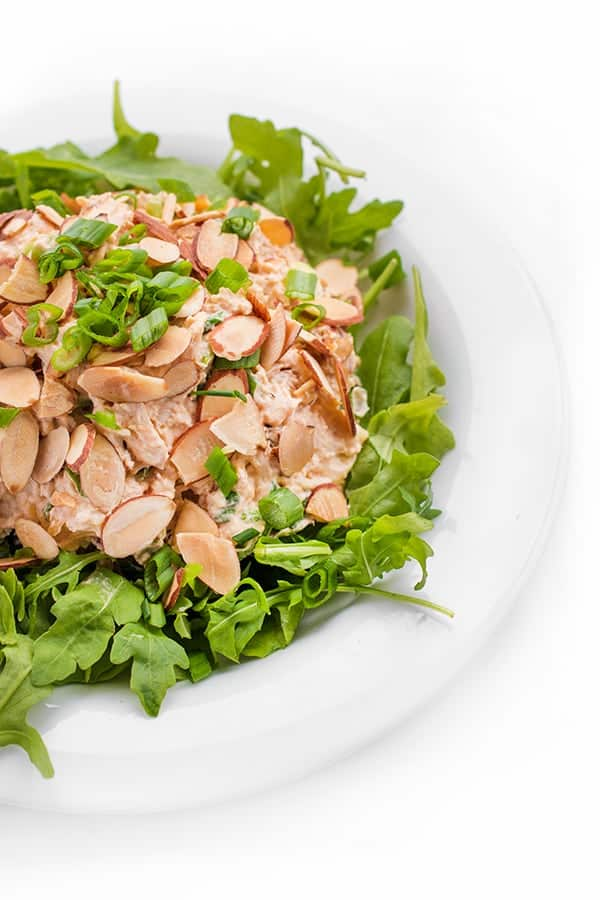 Asian Chicken Salad with Toasted Almonds - a low carb, paleo lunch recipe