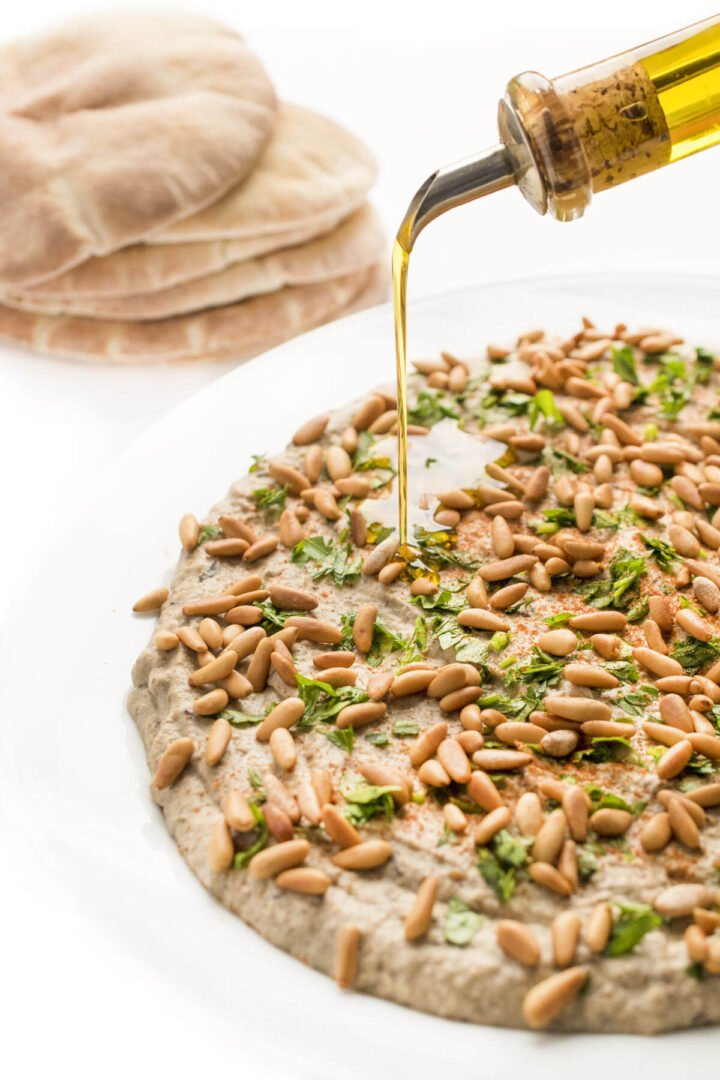 Baba Ganoush with Toasted Pine Nuts