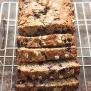 Gluten Free Blueberry Oatmeal Bread