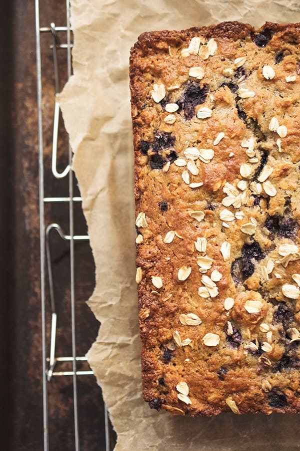 Gluten Free Blueberry Oatmeal Bread