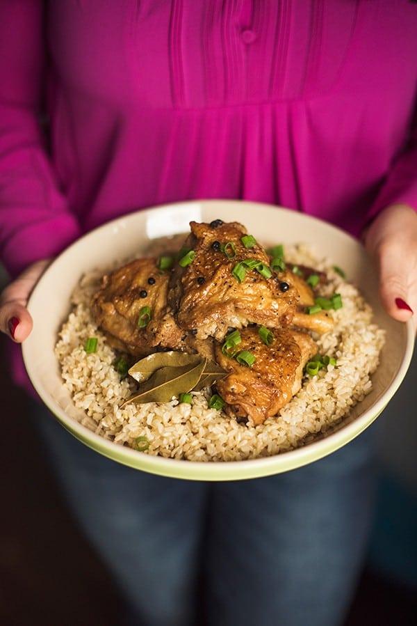 Slow Cooker Chicken Adobo Recipe - The Lemon Bowl®