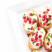 Whipped Feta Crostini - an easy party appetizer recipe
