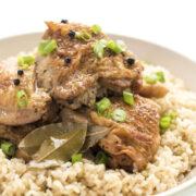 slow cooker chicken adobe closeup