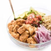 Mexican Chicken Quinoa Bowls - a healthy dinner recipe