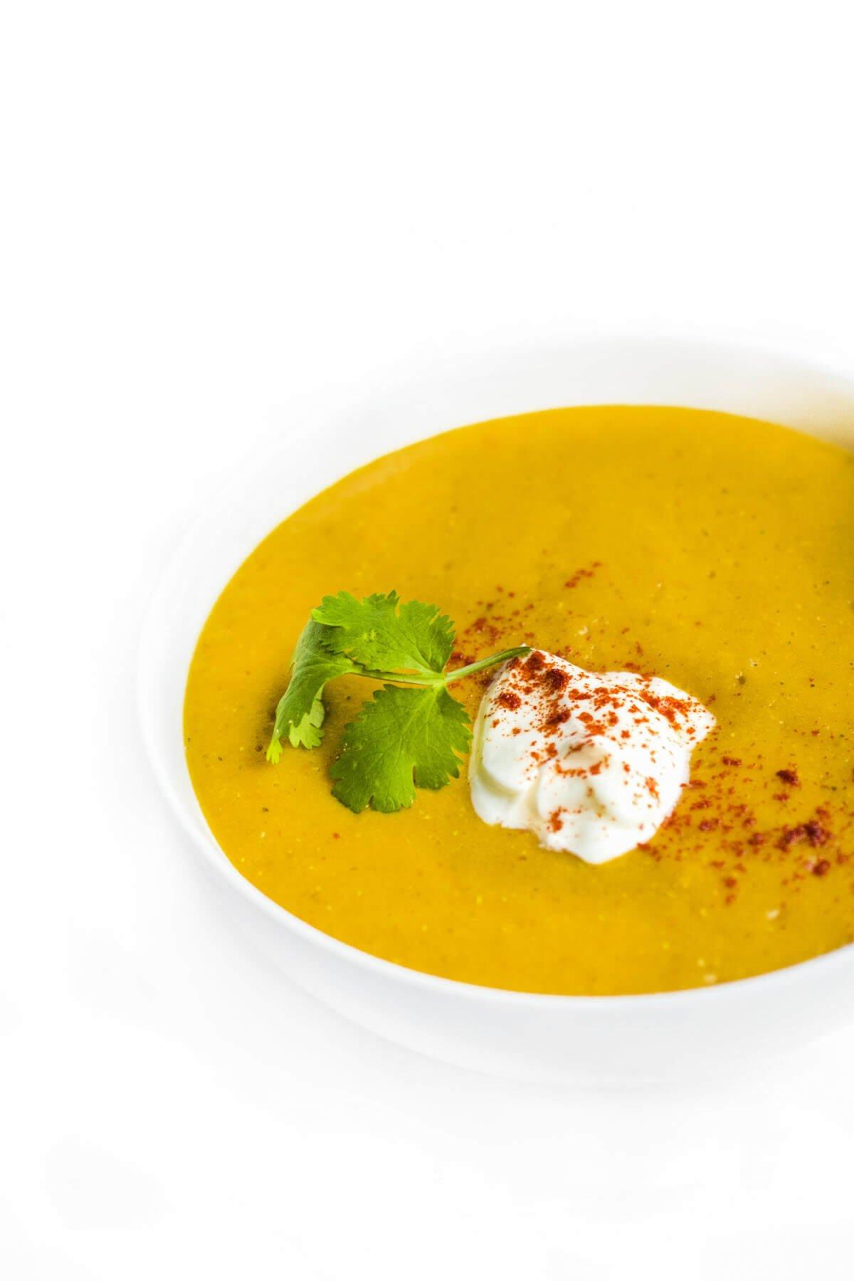 Slow Cooker Lebanese Lentil Soup - authentic Arabic recipe