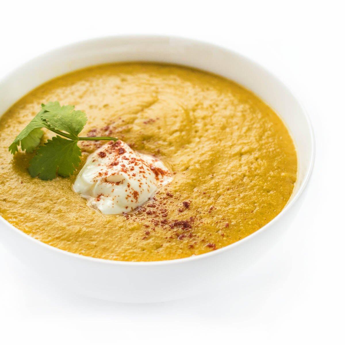 Slow Cooker Lebanese Lentil Soup in a bowl