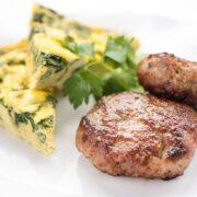 Turkey Breakfast Sausage Patties - high protein gluten free recipe