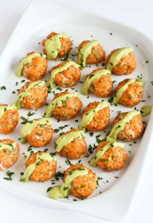 baked salmon meatballs