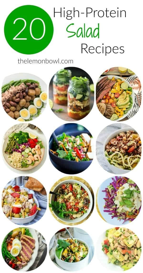 20 High Protein Salad Recipes The Lemon Bowl