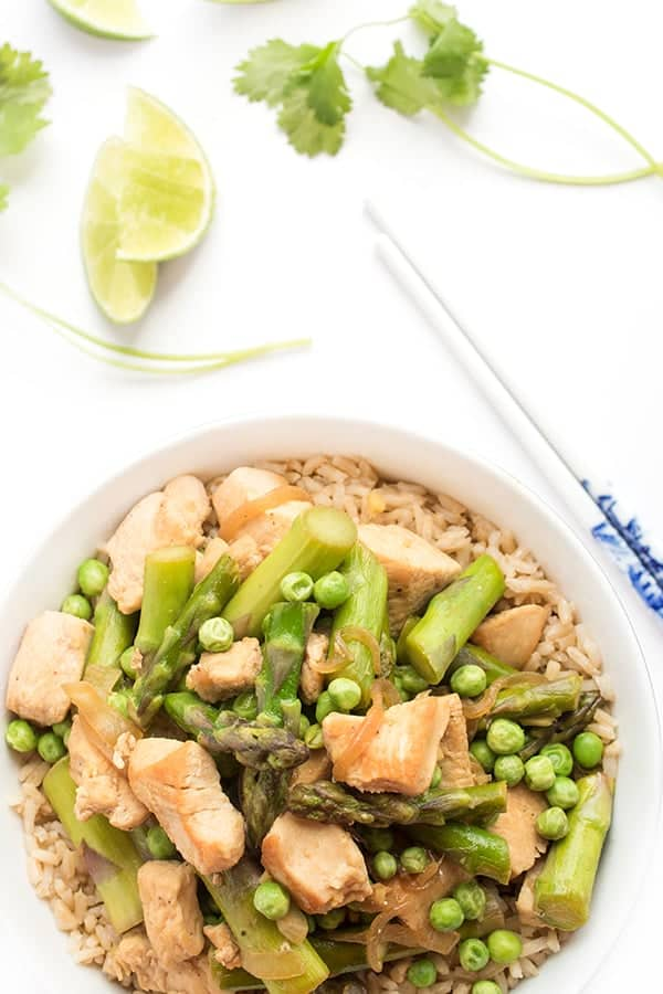Green Chicken Curry with Asparagus - a gluten free dinner recipe