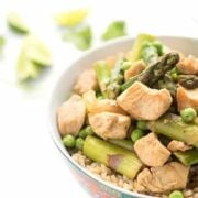 Green Curry Chicken with Asparagus - a healthy Asian dinner recipe