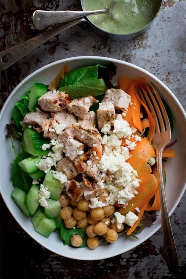 chicken chick pea salad