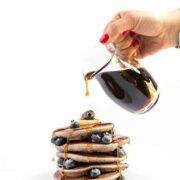 Blueberry Buckwheat Pancakes - a healthy breakfast recipe