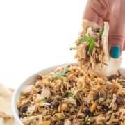 Lebanese Hushwee Rice with Chicken - an easy Middle Eatern dinner recipe