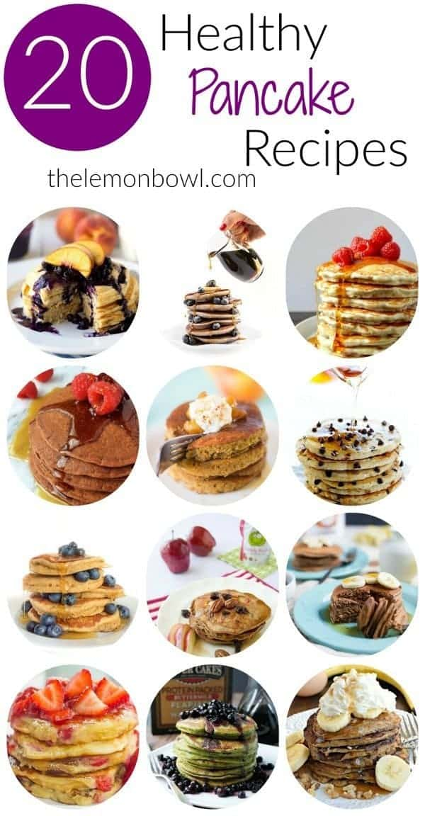 20 Healthy Pancake Recipes poster