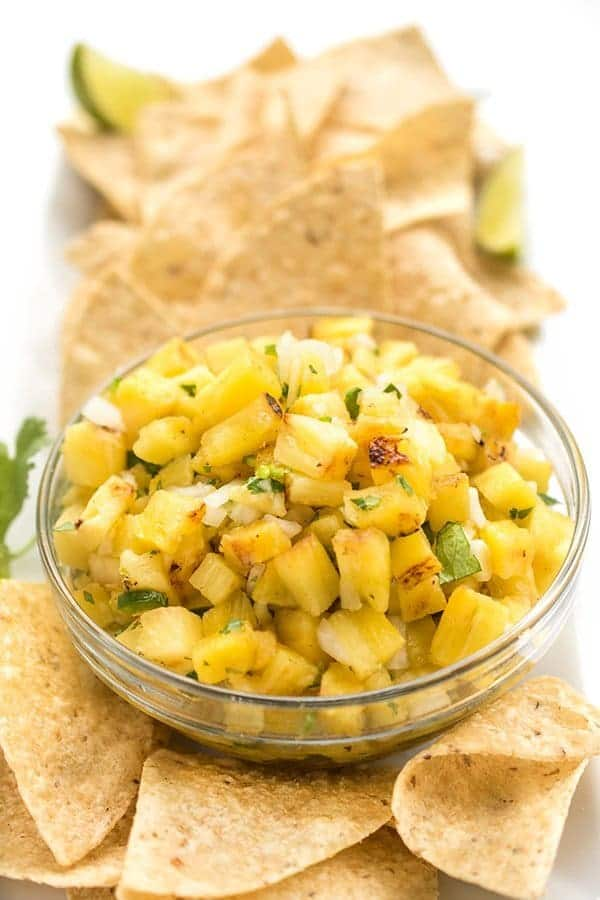 Grilled Pineapple Salsa - a healthy appetizer recipe