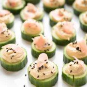Hummus Cucumber Bites - a healthy appetizer recipe