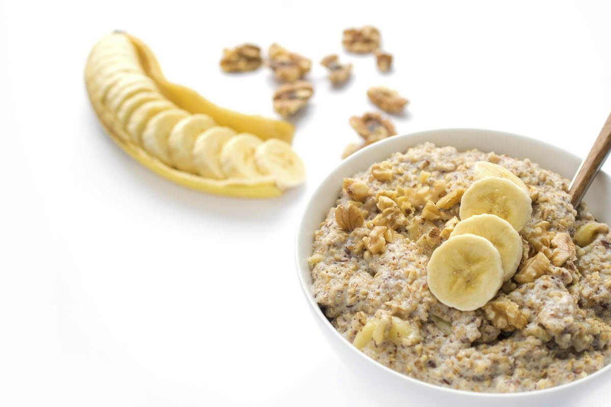 Banana Nut Oatmeal made in a slow cooker