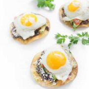 Breakfast Tostadas with Black Beans and Eggs