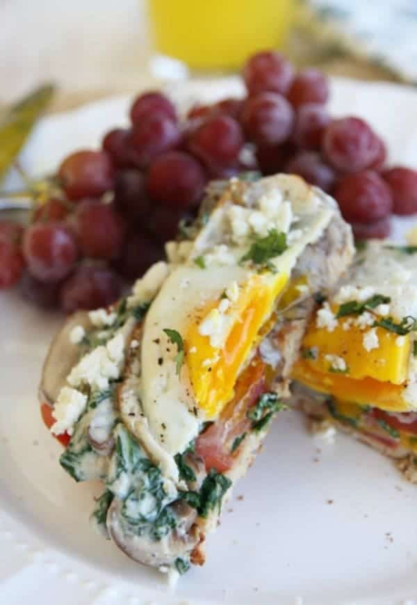 Light-and-filling-meal-from-Our-Best-Bites-Eggs-on-Toast-with-Creamy-Spinach-Sauce