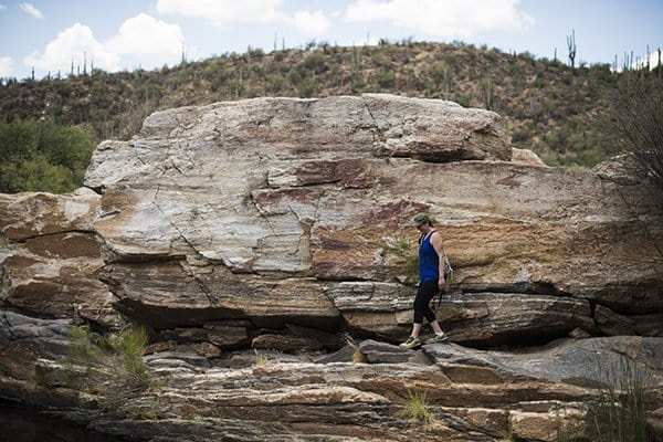 Liz Hiking Sabino Canyon Tucson