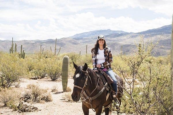 Liz Horseback Riding in Tucson